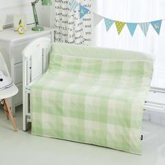 2018水洗棉儿童被子纯棉加厚保暖童被婴儿被子冬被宝宝被子冬天盖被120-150cm 1.2m(4英尺)床 棉花被子绿格