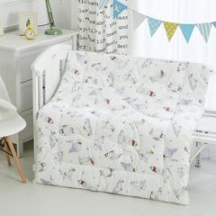 儿童被子长绒棉60s冬被宝宝被子新生婴儿被子秋冬加厚花边设计 1.2m(4英尺)床 北极熊(丝绵芯)