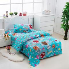 纯棉单人儿童卡通三件套 学生床品三件套单人宿舍床上用品 1.0m(3.3英尺)床 到碗里来