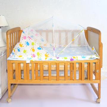婴儿蚊帐罩可折叠蒙古包式宝宝纹帐新生儿小孩儿童无底防蚊罩通用 漫乐园