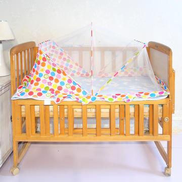 婴儿蚊帐罩可折叠蒙古包式宝宝纹帐新生儿小孩儿童无底防蚊罩通用 糖果粉