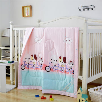 婴儿夏凉被天丝莫代尔夏被幼儿园被子夏季卡通薄被宝宝儿童空调被 120*150cm  汽车之旅