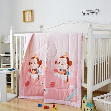 婴儿夏凉被天丝莫代尔夏被幼儿园被子夏季卡通薄被宝宝儿童空调被 120*150cm  云朵猴