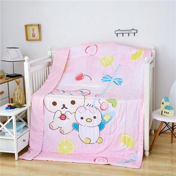 婴儿夏凉被天丝莫代尔夏被幼儿园被子夏季卡通薄被宝宝儿童空调被 150*200cm  可爱小熊