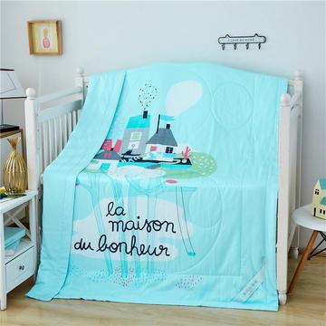 婴儿夏凉被天丝莫代尔夏被幼儿园被子夏季卡通薄被宝宝儿童空调被 150*200cm  梦幻城堡