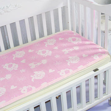 婴儿苎麻凉席宝宝夏季透气可洗四季新生儿童幼儿园小席子午睡专用 动物乐园粉