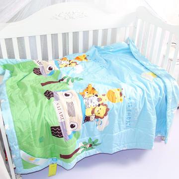 儿童夏凉被纯棉幼儿园午睡卡通可机洗棉花被子宝宝薄被子婴儿夏被-车友之旅