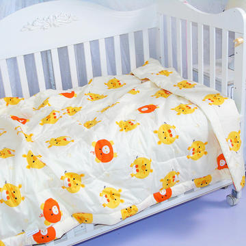婴儿夏被全棉儿童夏被宝宝卡通可水洗夏凉被  110*150cm  金猪宝贝