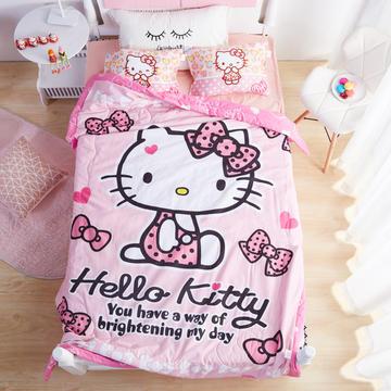 kt猫儿童夏凉被宝宝薄被婴儿空调被正版凯蒂猫学生春秋四季被单人-梦幻KT