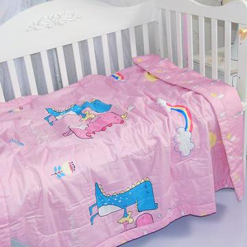 儿童夏凉被纯棉幼儿园午睡卡通可机洗棉花被子宝宝薄被子婴儿夏被  总