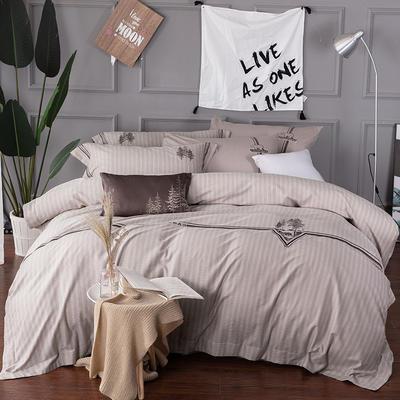 2019春夏新品-优纺系列四件套 1.5m(5英尺)床 境界-紫灰