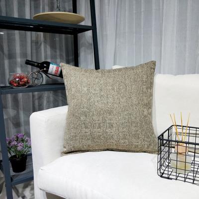 2019新款-北欧现代简约纯色棉麻抱枕沙发办公室靠垫 45*45cm(抱枕含芯) 雅棕咖