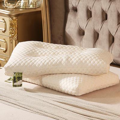 2018新款-天然颗粒乳胶枕头保护颈椎按摩枕芯成人 48*74cm 颗粒乳胶枕(大号)