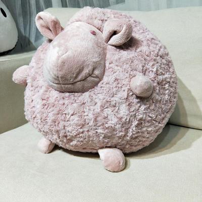 2020韩国原单同款网红创意绵羊公仔抱枕 32x32cm 脏脏粉