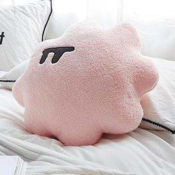 2018新款棉花糖创意圆形网红抱枕靠垫 48x48cm 仙女粉