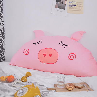 卡通床头大靠背 120X60cm 粉猪猪