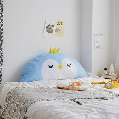 卡通床头大靠背 120X60cm 蓝企鹅