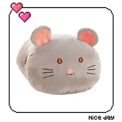 批發團購送禮贈品款冬季手捂抱枕 30X20cm 方老鼠