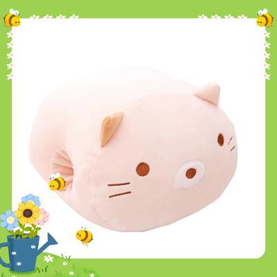 批發團購送禮贈品款冬季手捂抱枕 30X20cm 方貓咪