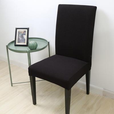 2020新款宾馆酒店饭店魔术椅套玉米绒-通用尺寸 玉米绒 黑色