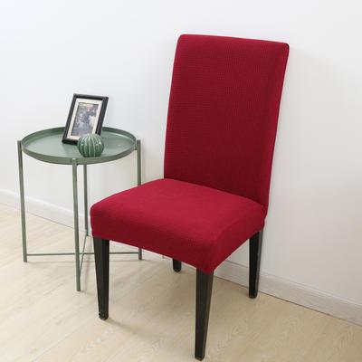 2020新款宾馆酒店饭店魔术椅套玉米绒-通用尺寸 玉米绒 红色