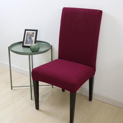 2020新款宾馆酒店饭店魔术椅套玉米绒-通用尺寸 玉米绒 酒红