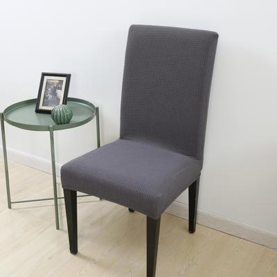 2020新款宾馆酒店饭店魔术椅套玉米绒-通用尺寸 玉米绒-灰色