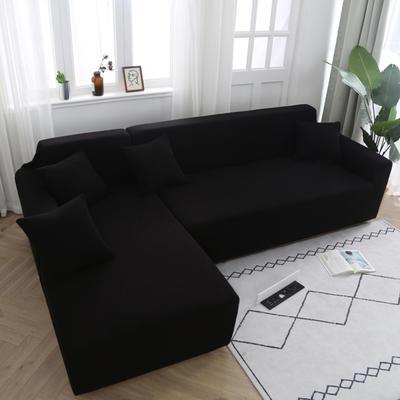 2020新款万能魔术弹力沙发套玉米绒 弹力椅套通用尺寸 玉米绒 黑色
