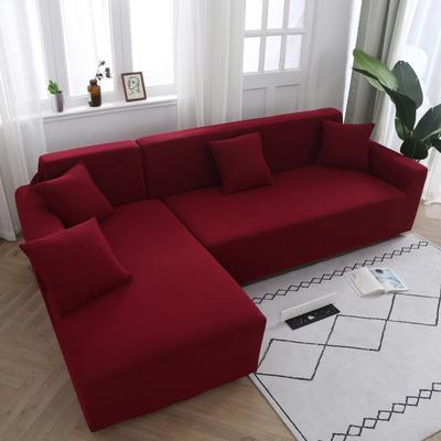 2020新款万能魔术弹力沙发套玉米绒 弹力椅套通用尺寸 玉米绒 红色