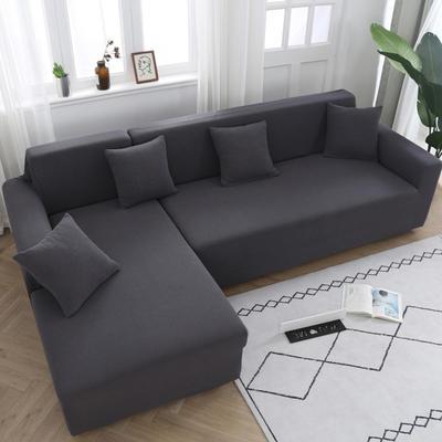 2020新款万能魔术弹力沙发套玉米绒 弹力椅套通用尺寸 玉米绒 灰色