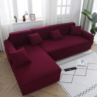 2020新款万能魔术弹力沙发套玉米绒 弹力椅套通用尺寸 玉米绒 酒红