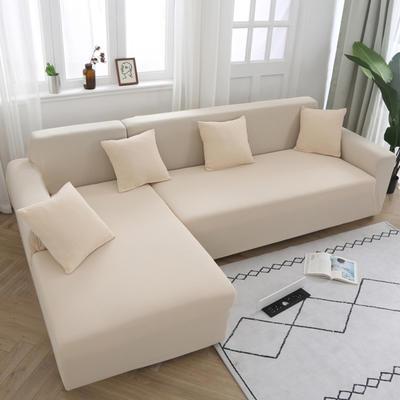 2020新款万能魔术弹力沙发套玉米绒 弹力椅套通用尺寸 玉米绒 米黄