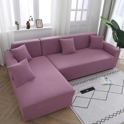 2020新款万能魔术弹力沙发套玉米绒 弹力椅套通用尺寸 玉米绒 浅紫