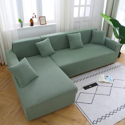2020新款万能魔术弹力沙发套玉米绒 弹力椅套通用尺寸 玉米绒-草绿