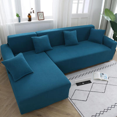 2020新款万能魔术弹力沙发套玉米绒 弹力椅套通用尺寸 玉米绒-湖蓝