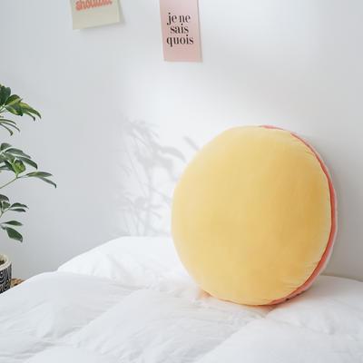 2020新款马卡龙抱枕靠垫 40X40cm 马卡龙-黄