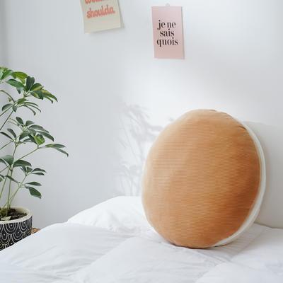 2020新款马卡龙抱枕靠垫 40X40cm 马卡龙-咖