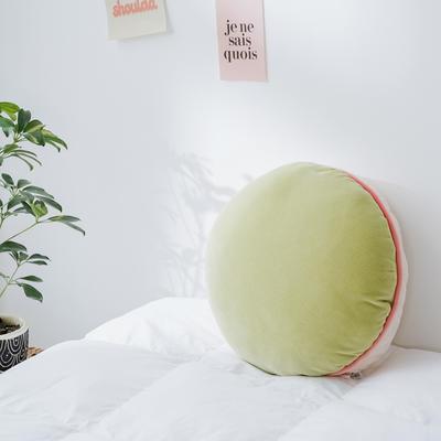 2020新款马卡龙抱枕靠垫 40X40cm 马卡龙-绿