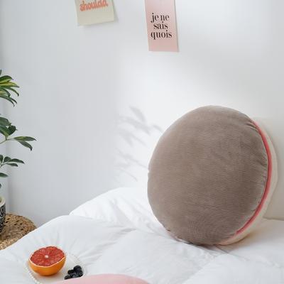 2020新款马卡龙抱枕靠垫 40X40cm 马卡龙-棕