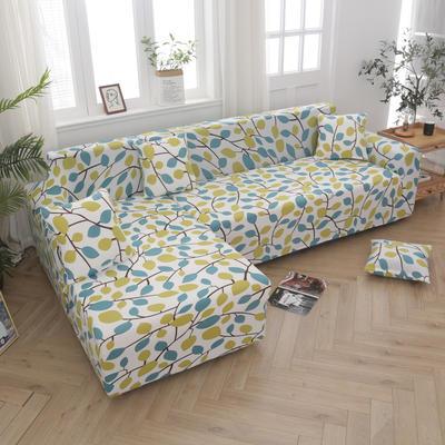 2020新款四季款印花沙发套 单人位尺寸90-140cm 绿叶