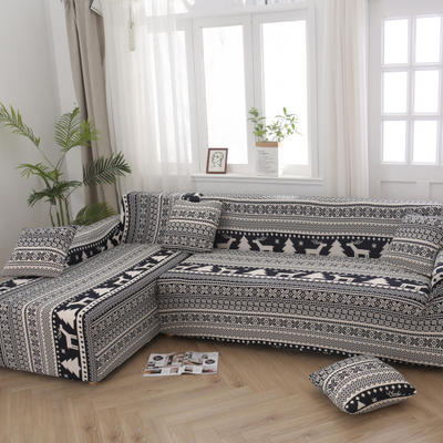 2020新款四季款印花沙发套 单人位尺寸90-140cm 美丽印象