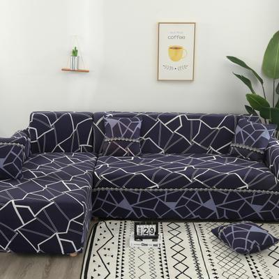 2020新款四季款印花沙发套 单人位尺寸90-140cm 水立方