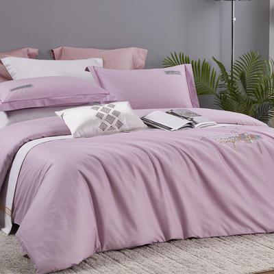 2021新品60支全棉刺绣四件套  天空之城 1.8m(6英尺)床 水晶紫