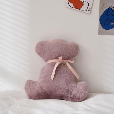 2021新款-可可熊抱枕 36*35cm 可可熊-紫