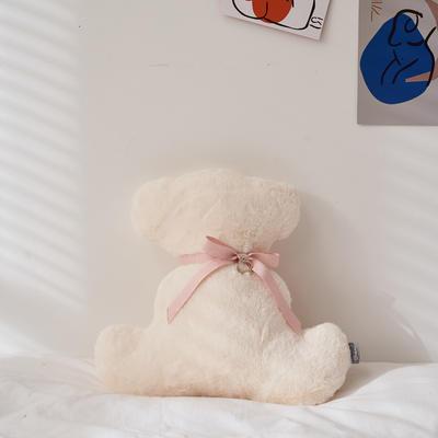 2021新款-可可熊抱枕 36*35cm 可可熊-白