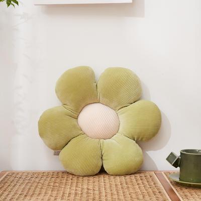 2021新款小朵朵抱枕花朵坐垫小雏菊抱枕直播赠品抱枕礼品(量大从优) 直径38cm左右 绿色