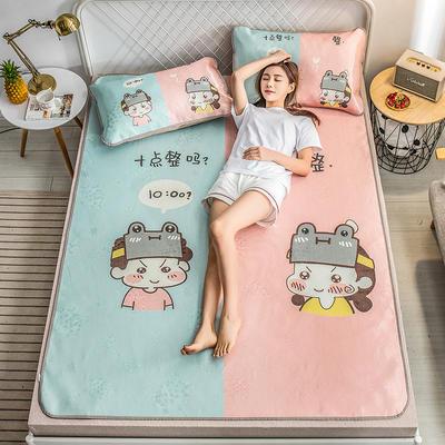 2019新品-大版花冰丝席 1.5m(5英尺)床 十点整