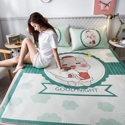 2019新品-大版花冰丝席 1.5m(5英尺)床 贪睡猪