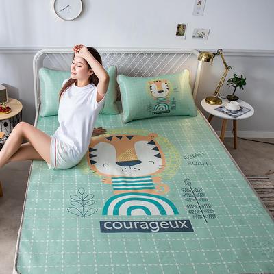 2019新品-大版花冰丝席 1.5m(5英尺)床 小老虎