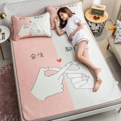 2019新品-大版花冰丝席 1.5m(5英尺)床 余生都是你